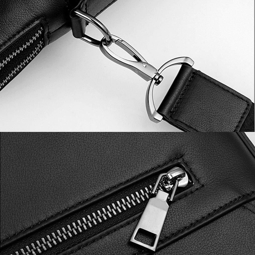 Leather Shoulder Diagonal Tote Color : Black, Size : M YYYTS Mens Business Briefcase