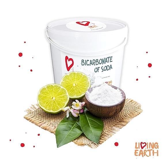25KG - Bicarbonato de Sodio - Living Earth   Excelente Alternativa para la Limpieza del hogar y Cuidado Personal. Limpieza ECOLÓGICA, Libre DE TÓXICOS Y ...