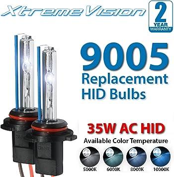 8K Medium Blue 9007 8000K XtremeVision DC 35W Xenon HID Lights with Premium Slim Ballast 2 Year Warranty