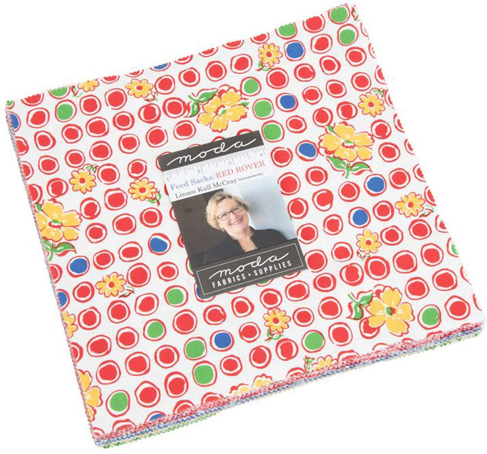 Feed Sacks Red Rover Layer Cake, 42-10'' Precut Fabric Quilt Squares by Linzee Kull McCray by MODA