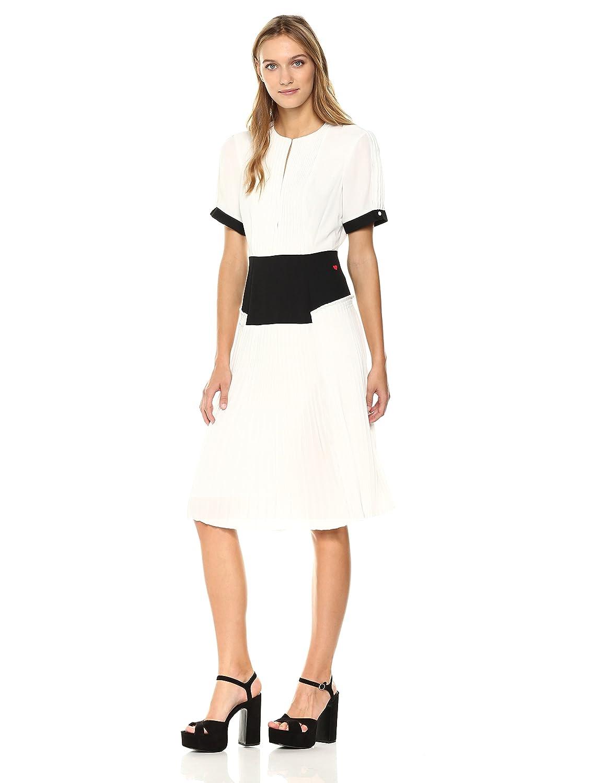 Marshmallow Dear Drew by Drew Barrymore Women's Elizabeth Street Short Sleeve Pleated Dress