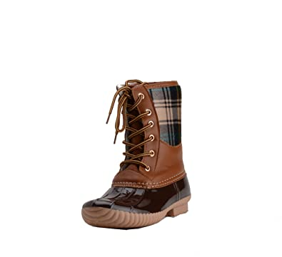 e92c3cb121001 Henry Ferrera Womens Mission-100 Tan Brown Duck Foot Lined Boots-Size 6