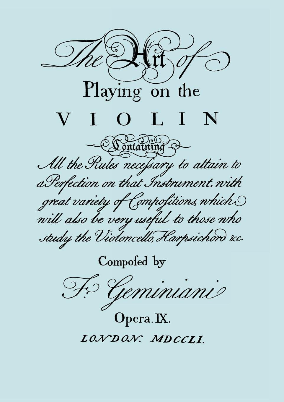 Download The Art of Playing on the Violin. [Facsimile of 1751 edition]. pdf