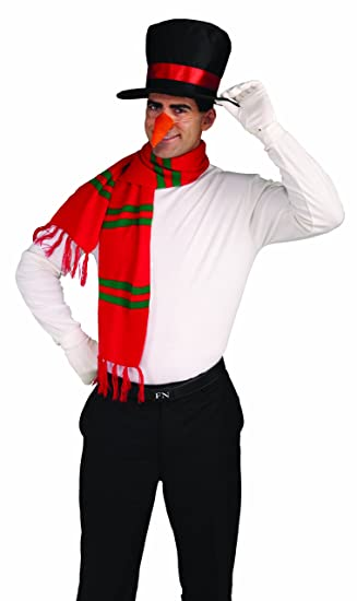 4e1ee48b57161 Amazon.com  Forum Novelties Men s Snowman Costume Kit Hat Nose Scarf ...
