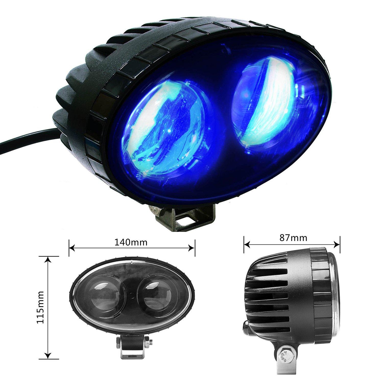 9V-60V LED AOMAX 8W CREE Blue LED Forklift Safety Light Spot Light Warehouse Safe Warning Light 250LM AO-004