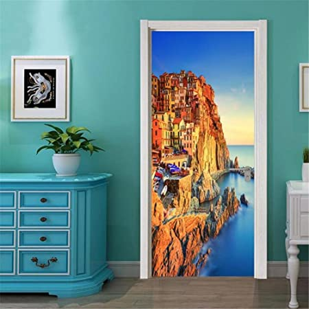 Guow Adesivi Per Porte Tridimensionali 3d Decorazioni Per La Casa