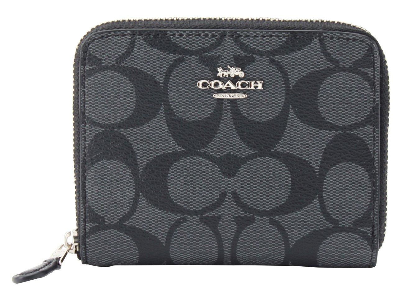 (コーチ) COACH 財布 二つ折り ラウンドファスナー コンパクト F30308 アウトレット [並行輸入品] B07D3R937F ブラックスモーク/ブラック ブラックスモーク/ブラック