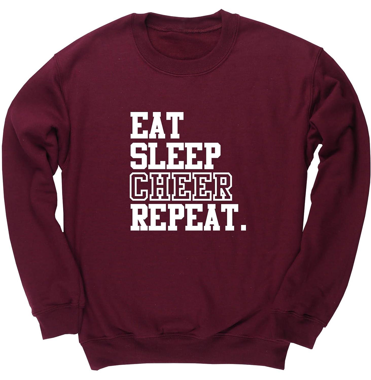 Hoodie Eat Sleep Cheerleading Repeat Tee Shirt Sweatshirt