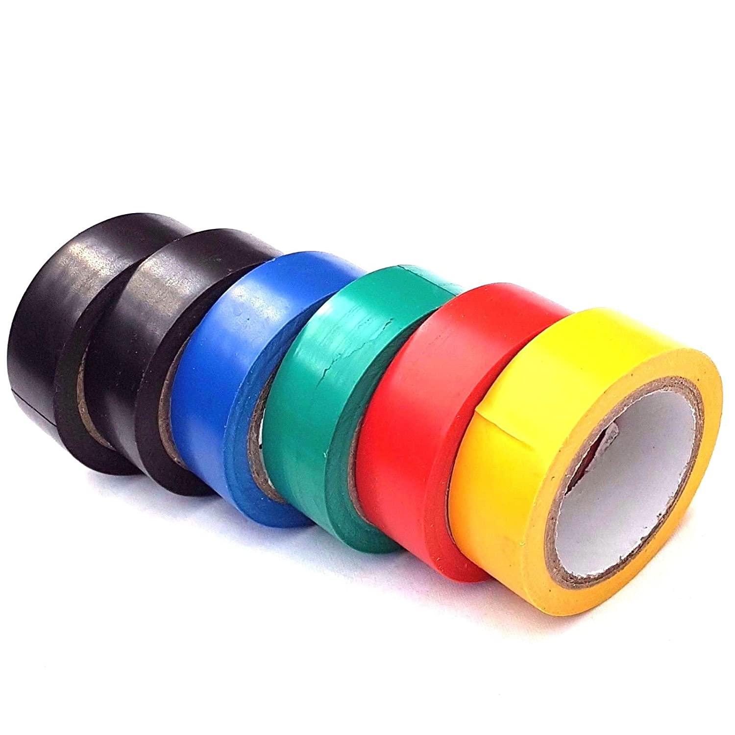 6 Pack PVC Insulation Tape Assorted Colour Flame Retardant Electrical 8M HSD