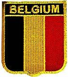 Bélgica Bandera Patch '6.4 x 7.3 cm' - Parche Parches Termoadhesivos Parche Bordado Parches Bordados Parches Para La Ropa Parches La Ropa Termoadhesivo Apliques Iron on Patch Iron-On Apliques