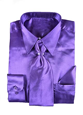 Image result for satin shirt with matching tie