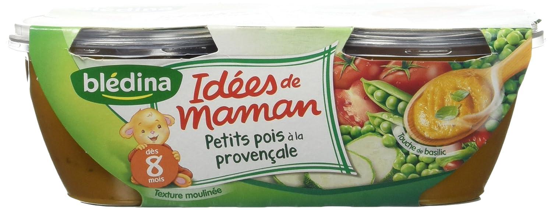 Blédina Idées de Maman Petits Pois à la Provençale dès 8 mois 2 x 200 g g Blédina 3041090846496 Idées de maman^bol pot^bébé^légume^repas^pantry
