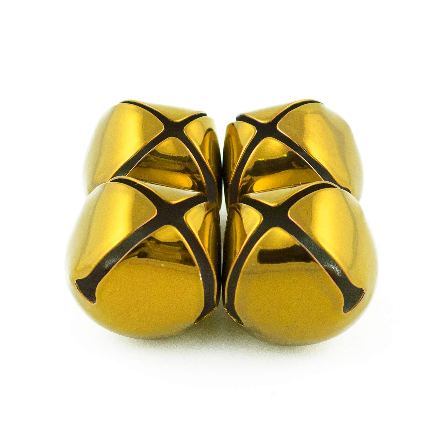 1.5 Inch 36mm Extra Large Giant Jumbo Craft Gold Jingle Bells Bulk 100 Pieces by Art Cove (Image #4)