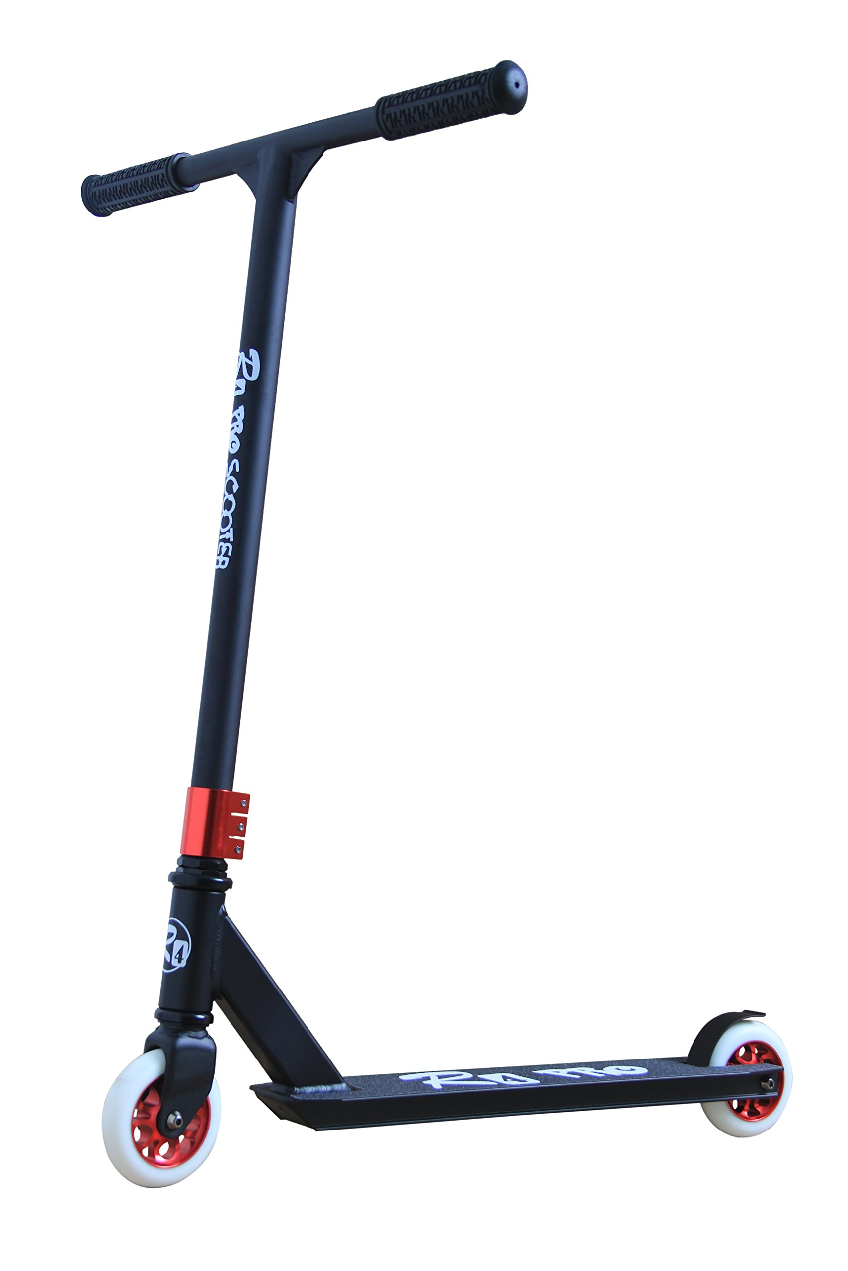R4 Aluminum Pro Complete 6061 Stunt Scooter, Matte Black & Red
