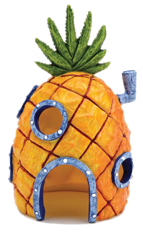 Nickelodeon's SpongeBob SquarePants Small 6 Inch Pineapple House Aquarium Ornament from Penn Plax – Durable Resin Safe for All Fish - SBR10
