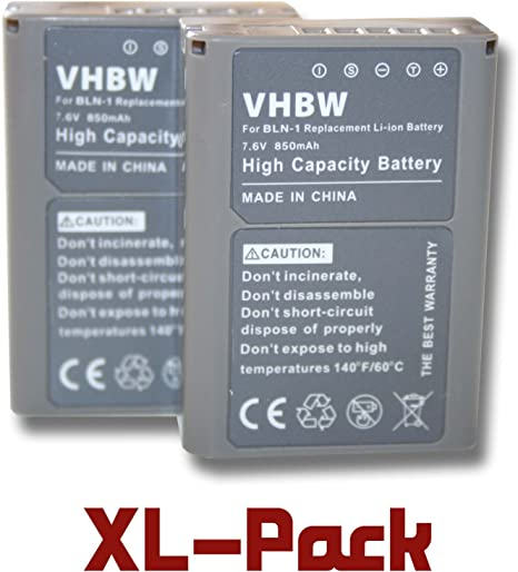 Battery 850mAh for Olympus PS-BLN1