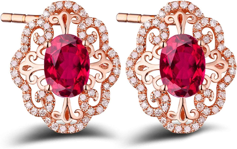 Pendientes de Turmalina Diamantes de 1.85ct Blisfille Joyería Borlas Beige Colgante Mujer de Oro Pendientes de 18K Oro