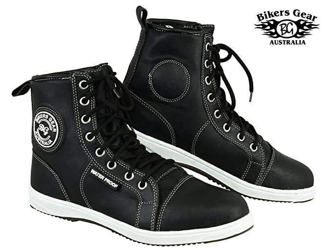06e5a9e0cb9214 Bikers Gear UK Stivali Scarpe in pelle stile caffè Racer impermeabile e  renfoce super prodotto: Amazon.it: Auto e Moto
