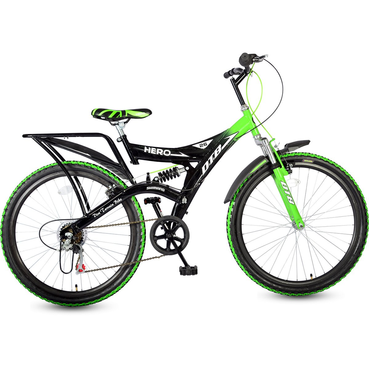 Hero Ranger Carbon-Steel Cycle (Black/Green)