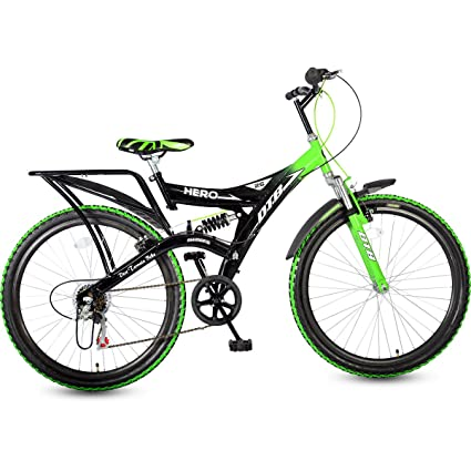 d219c41ad15 Buy Hero Ranger Carbon-Steel Cycle (Black/Green) Online at Low Prices in  India - Amazon.in