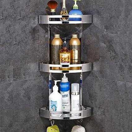 Wubing Estantería de bañera de Pared Cuarto de baño de Metal ...