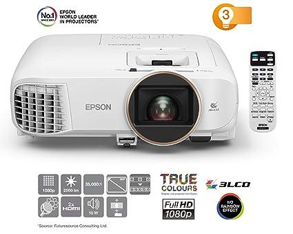 Epson EH-TW5650   Proyector Home Cinema 3D Full HD 1080p   2500 lúmenes   Alto Contraste 60.000:1   Lámpara Larga Duración 7500 horas   Pantalla Hasta ...