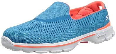 Skechers Performance Women's Go Walk 3 Strike Walking Slip-On  Shoe,Turquoise,5