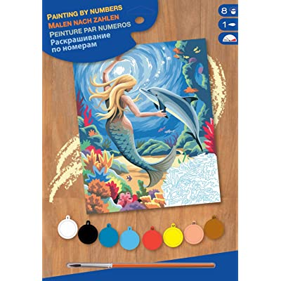KSG - Masterpiece Junior Paint by Number Mermaid: Toys & Games