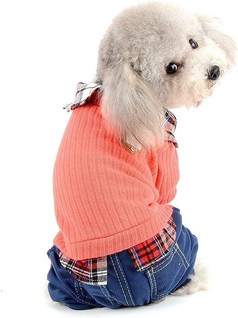 SELMAI - Jersey para Perro pequeño con Pantalones y pantalón para ...
