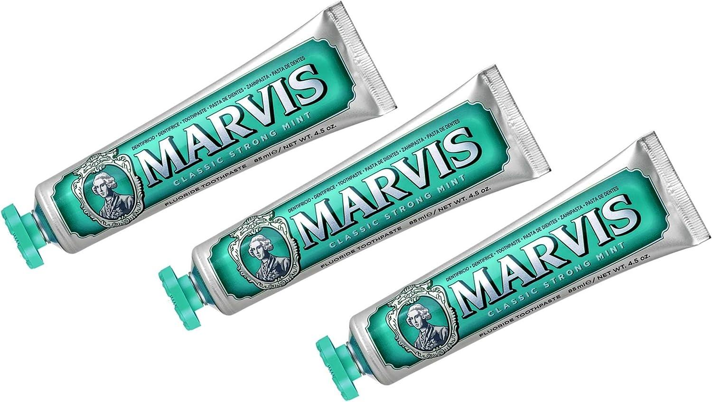 Marvis Pasta de dientes menta fuerte 3 x 75ml: Amazon.es: Salud y cuidado personal