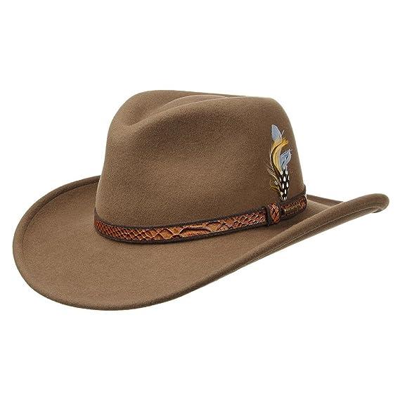 ffd1060d7bc Stetson Chalco VitaFelt Hat outdoor hats Australian (XL (60-61 cm) -  brown)  Amazon.co.uk  Clothing
