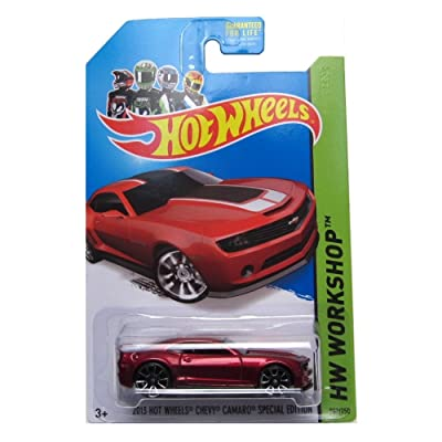 Hot Wheels 2014 HW Workshop 2013 Chevy Camaro Special Edition 202/250, Red: Toys & Games