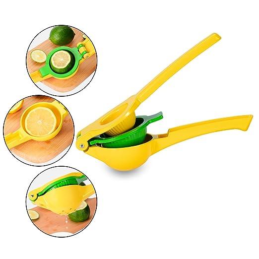 Prensa ajos rallador de cítricos exprimidor cocina utensilios de cocina 3 unidades, Premium Metal limón lima prensa exprimidor profesional de acero ...