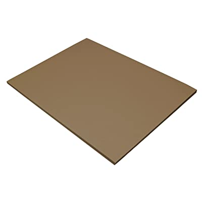 Riverside Construction Paper, 76 lbs., 18 X 24, Brown, 50 Sheets/Pack : Office Products
