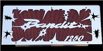 grille de radiateur inox poli Suzuki GSF 1250 Bandit 200715 design Hold up grillage anti gravillon noir cache radiateur