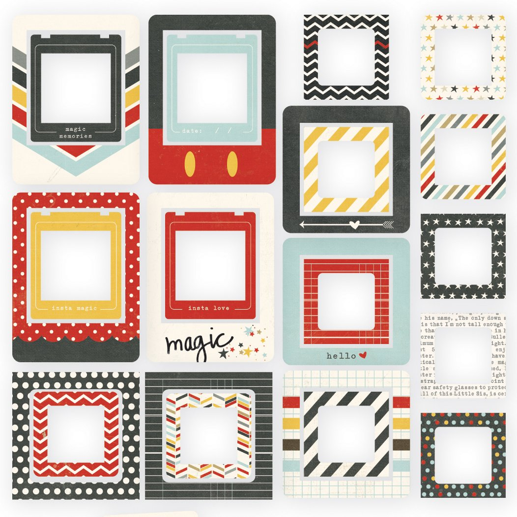 Simple Stories Say Cheese II Chipboard Frames 24 Pack