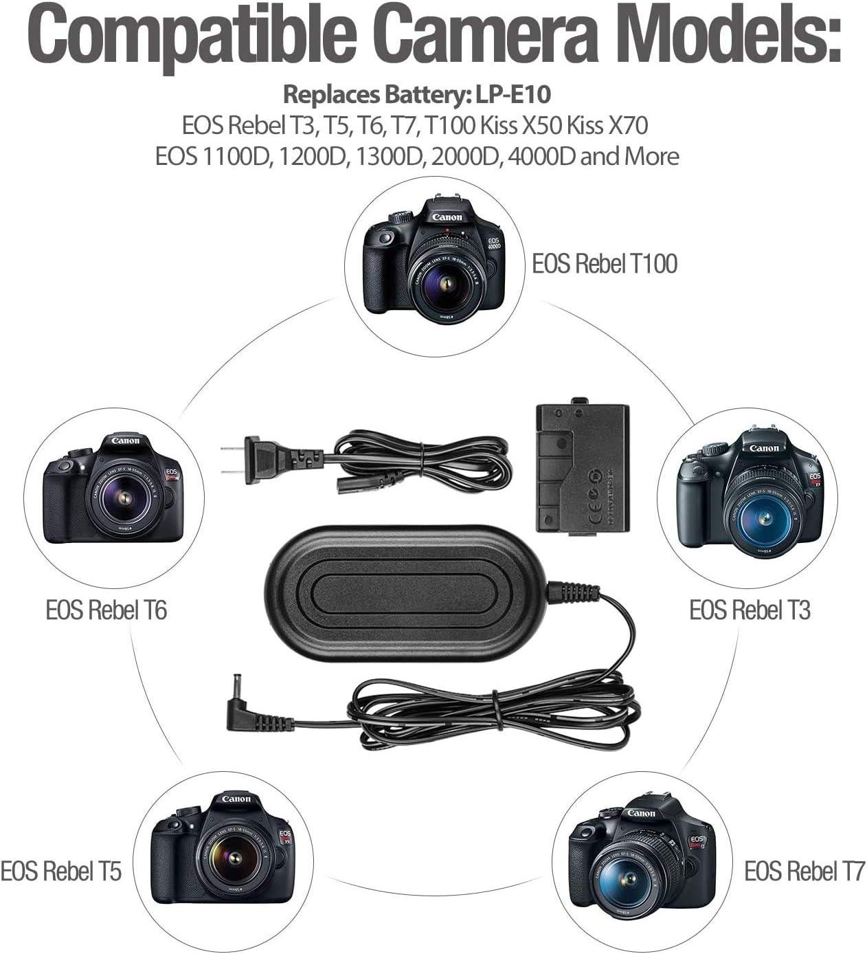 T6 T100 Kiss X50 for Canon EOS Rebel T3 2000D 1300D EOS 1100D ...