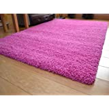 Soft Touch Shaggy Pink Thick Luxurious Soft 5cm Dense Pile Rug. Available in 7 Sizes (120cm x 170cm)