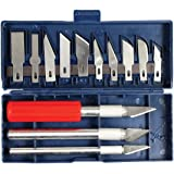 SE 813PK 16-Piece Hobby Knife Set with Aluminum Collet Chucks