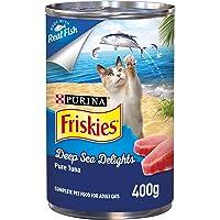 Friskies Purina Deep Sea Delights Pure Tuna Cat Wet Food 400g(Pack of 1)