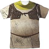 Shrek Animated Family Comedy Movie Ogre Costume Adult Front Print Tshirt