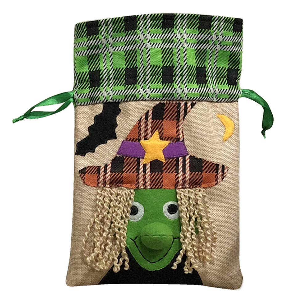 Halloween Bags for Candy Cute Witches Candy Bag Packaging Children Party Storage Bag Gift (A)