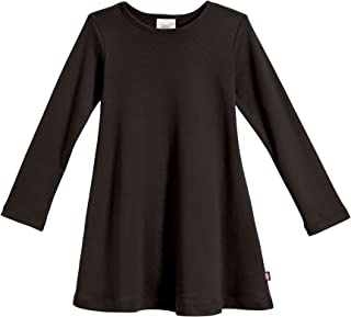 product image for City Threads Girls' 100% Cotton Long Sleeve Dress - Active Kids School, Playing, Parties - Made in USA