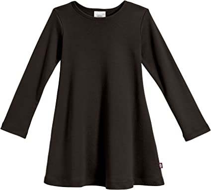 City Threads Girls 100/% Cotton Long Sleeve Dress Parties Active Kids School Playing Made in USA