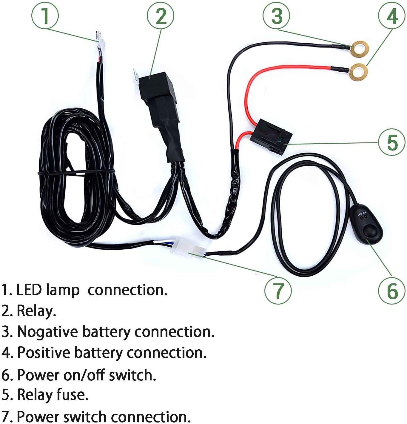 12V Kit Câblage Fusible lumière inc RELAIS UNIVERSELLE-spotlamps spot feux brouillard feux