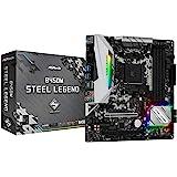 Placa Mãe AM4/USB 3.1/Type-C/Displayport, HDMI, ASRock, B450M Steel Legend