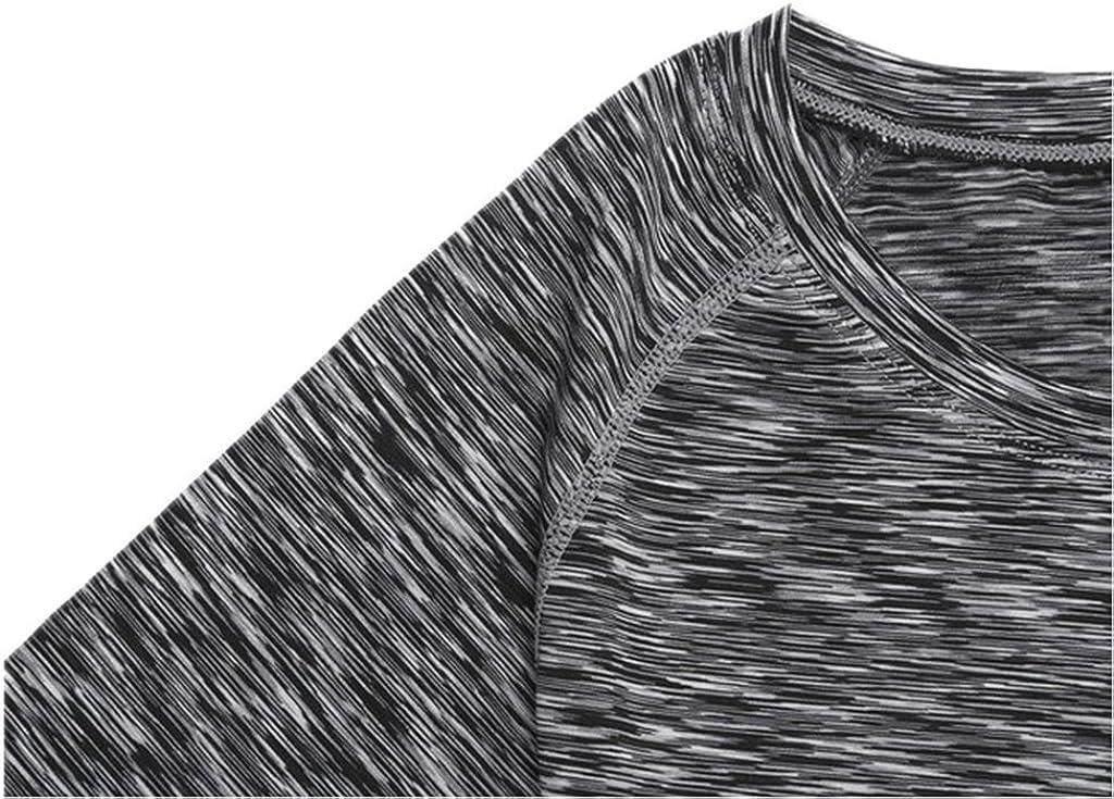 YR.Lover Damen 3er Pack Dry Fit Kompression Running Yoga Tank Top T-Shirt,