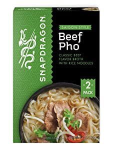 Snapdragon Saigon-Style Vietnamese Beef Pho Packets | Gluten Free | No Artificial Flavors | No MSG Added | 2.1 oz (6 Pack)