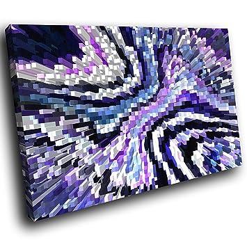 toile encadrée AB1752C imprimé coloré Wall Art - Bleu Noir ...