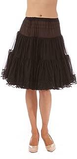product image for Malco Modes Zooey Luxury Chiffon Adult Petticoat Slip, Lace Trim, Adjustable